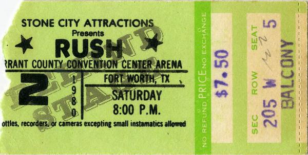 70s and 80s concert ticket stubs