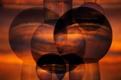 Crystal balls and glass imagery