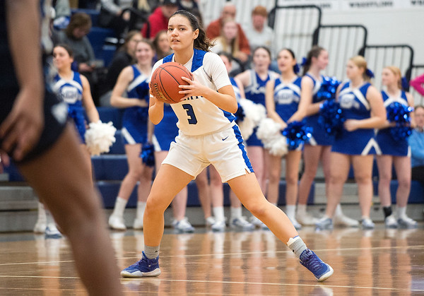 03/03/20 Wesley Bunnell | StaffrrSouthington girls basketball vs Middletown on Monday night March 2, 2020. Brianna Harris (3).