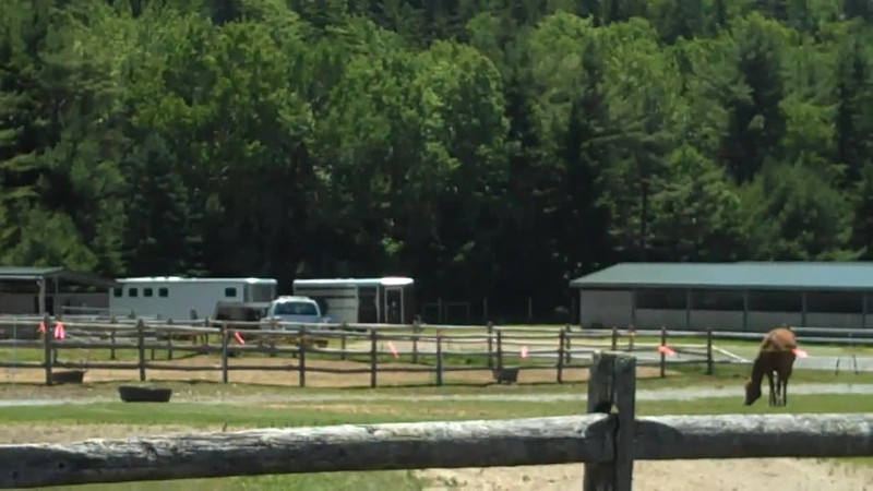 Wildwood Stables: single access path (uphill) to carriage roads on Day Mt summit video