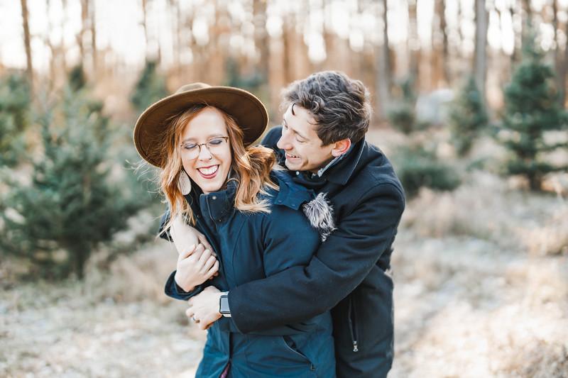 Joel + Nicole Christmas Session | WIlliams Tree Farm