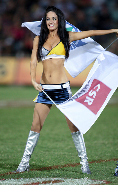 26 April 2008 Townsville, Qld - HotSquad dancers perform at the North Queensland Cowboys v Melbourne Storm match - Photo: Cameron Laird (Ph: 0418 238811)