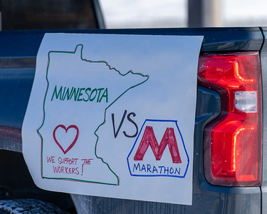 2021 02 14 Solidarity car caravan with locked out Teamsters at Marathon