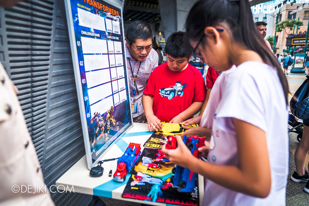Universal Studios Singapore Park Update June 2017 - Transformers Pop-Up Game at Sci-Fi City