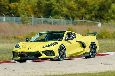 Yellow C8 Corvette