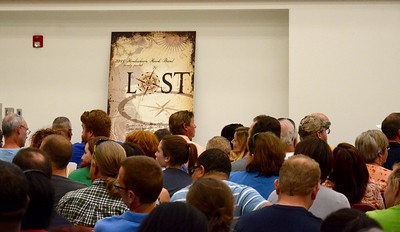 INAUGURAL BAND PARENT MEETING in the NEWLY-RENOVATED HENDRICKSON HIGH SCHOOL BAND HALL AUG 3, 2015