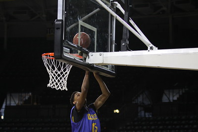 VU Men's Basketball practice at Wichita State