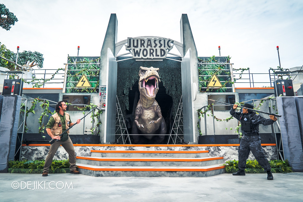 Universal Studios Singapore Park Update - Jurassic World Explore and Roar event - Jurassic World: ROAR! show / Grand Finale photo op