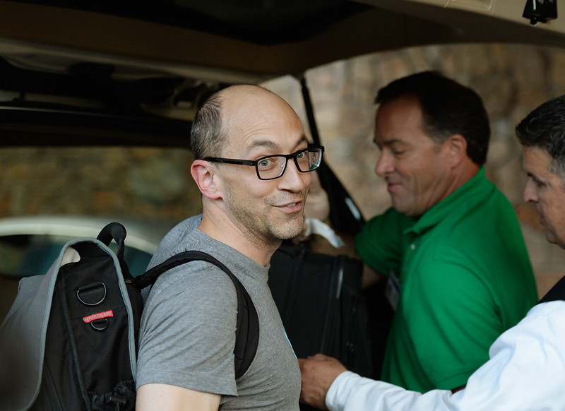 . Dick Costolo, CEO of Twitter, arrives for the Allen & Co. annual conference on July 9, 2013 in Sun Valley, Idaho. The resort will host corporate leaders for the 31th annual Allen & Co. media and technology conference where some of the wealthiest and most powerful executives in media, finance, politics and tech gather for a weeklong meetings which begins Tuesday. Past attendees included Warren Buffett, Bill Gates and Mark Zuckerberg.  (Photo by Kevork Djansezian/Getty Images)