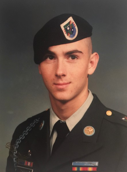 "Jesse Dykman, U.S. Army B Co 3/75 Ranger Regiment, brother to Jacqi Williams. Jacqi says, ""Uncle Jesse to: Lara and Mara Kendall at Glenn High School; Alayna Williams at Camacho Elementary; Paxton Williams at Bagdad Elementary; and Paisley Williams at Parents as Teachers."""
