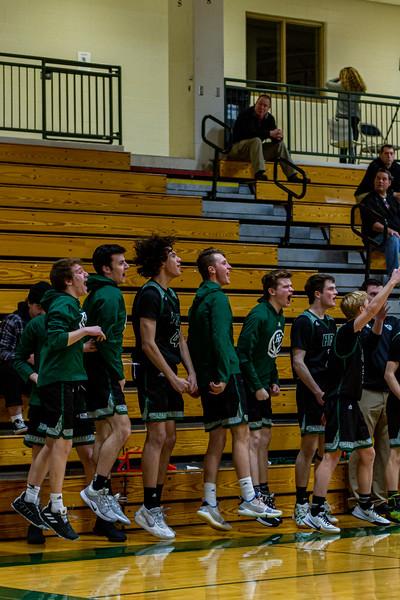 Holy Family Boys Basketball Team vs. New Prague - Collin Nawrocki/The Phoenix