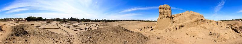 Panorama der Deffufa inmitten der antiken Stadt Kerma
