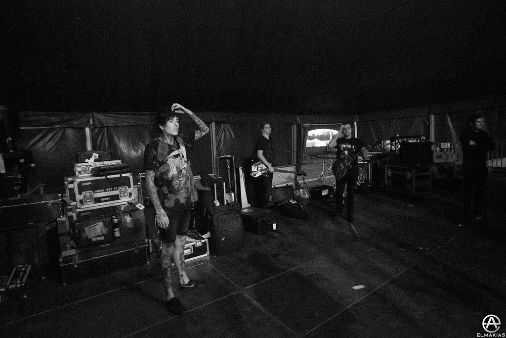 Oli side stage before hitting the stage