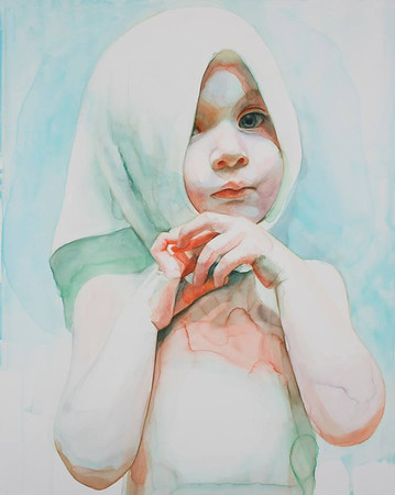 Immerse, a series of watercolor portraits illustrating the innocence of childhood by Ali Cavanaugh