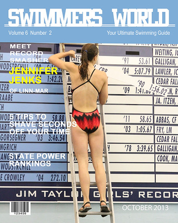 Swimmers World Magazine Cover - Style number 1