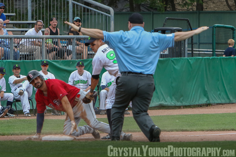 Brantford Red Sox at London Majors Pack the Park Day - June 18, 2017 (Game called after 3 innings due to rain)