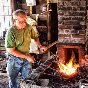 Working people, blacksmith,saw man