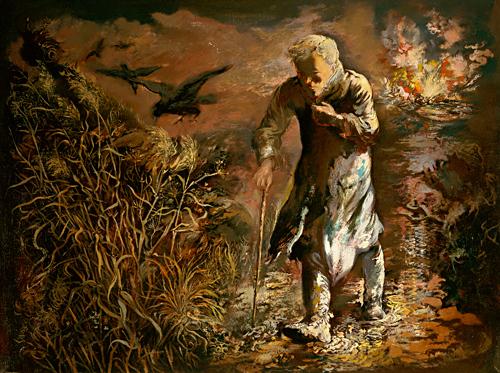 "George Grosz, ""The Wanderer,"" 1943"