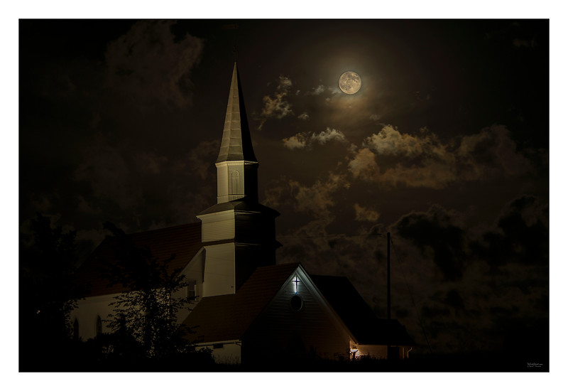 Church in Full Moon