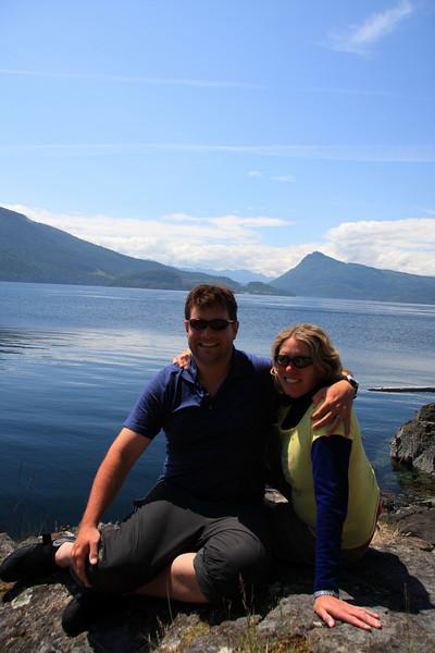 Susan and Sean enjoy the sun on Hansen Island