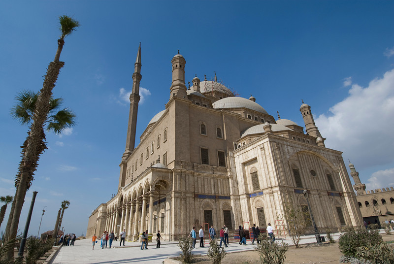 View from outside the Mohamed Ali Mosque - Cairo, Egypt