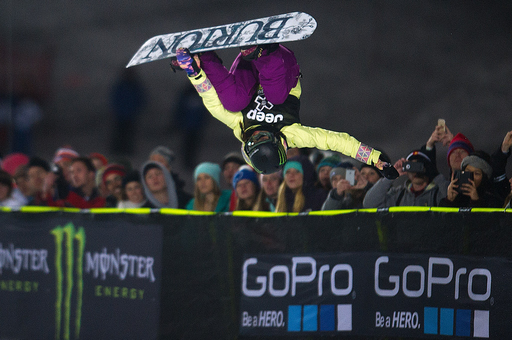 . Chloe Kim competes during the final run of the women\'s snowboard superpipe at Winter X Games Aspen 2015 at Buttermilk Mountain on January 24, 2015, in Aspen, Colorado. Kim, 14, is the youngest gold medalist in X Games history. (Photo by Daniel Petty/The Denver Post)