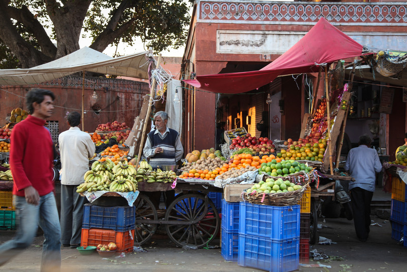 Fruits and vegetables for sale.