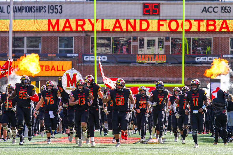 Maryland players take the field