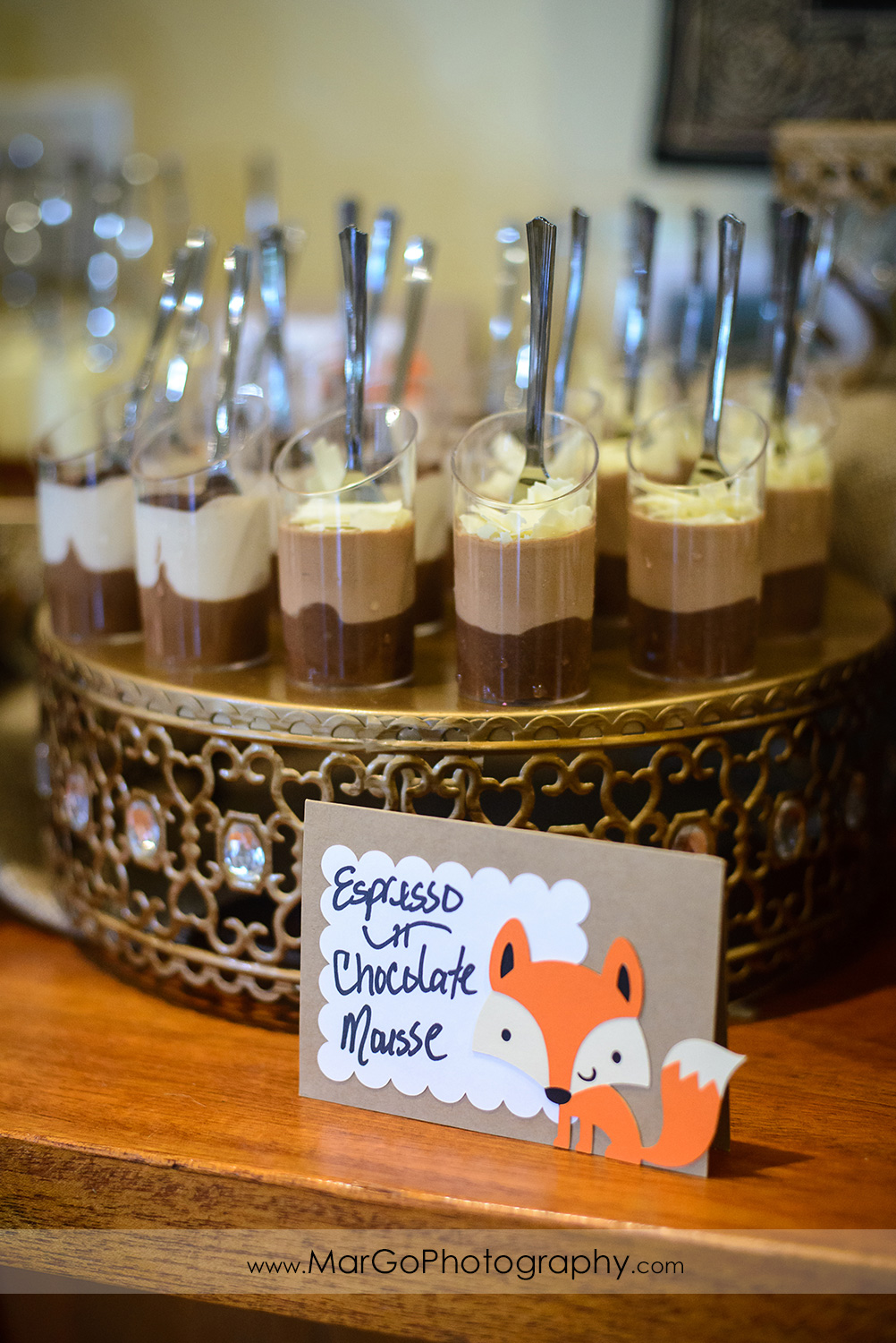 baby shower espresso & chocolate mousse, Windmill Ridge Winery