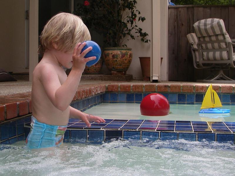 Preparing to throw the ball.