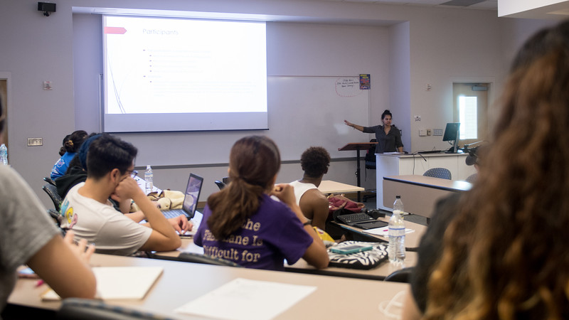 TAMUCC Professor Saunders explains the how to get participants to be apart of an experimental psychology project.