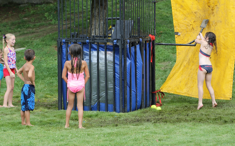 Dunk tank, with a 100% dunk ratio!