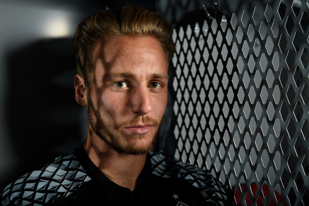 . COMMERCE CITY, CO - FEBRUARY 11: John Berner poses for a portrait during Colorado Rapids media day on Thursday, February 11, 2016. (Photo by AAron Ontiveroz/The Denver Post)