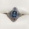 1.41ctw Art Deco Style Aqua and Diamond Dinner Ring 26