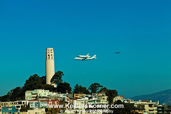 Shuttle Endeavour Fly Over - San Francisco