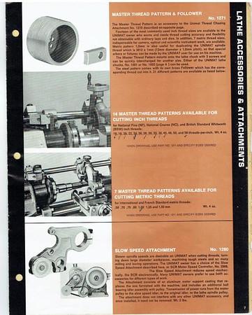 UNIMAT old literature, blueprints and brochures..