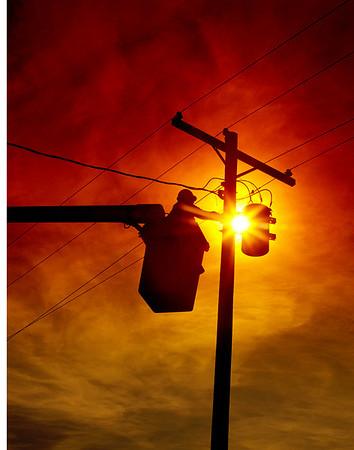 Lineman sunset photo
