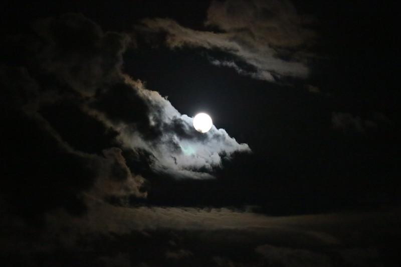 Full Moon through Clouds