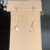.47ctw Mismatched Pear Flat Cut Diamond Drops 10
