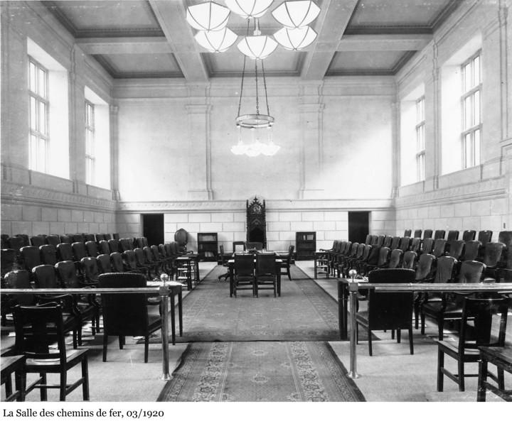Railway Committee Room - La Salle des chemins de fer, Mar 1920
