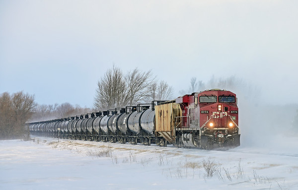 Canadian Pacific/D&H 650, Lacolle, Quebec, January 25 2019.