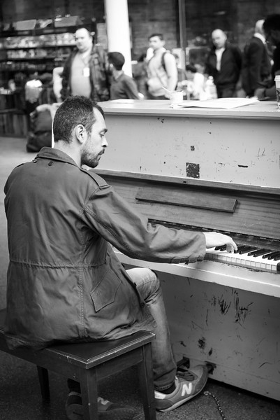 St. Pancras Station Piano Player - Central London