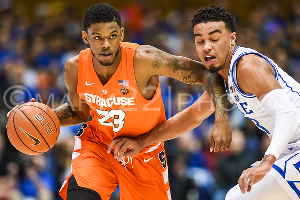 2019 Syracuse at Duke Basketball