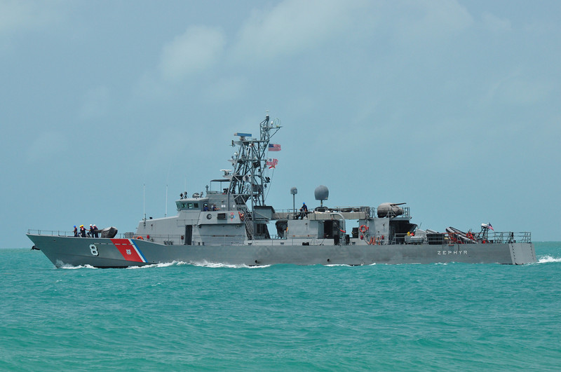 USCG Cutter Zephyr headed out for a tour of duty from Key West in May 2010
