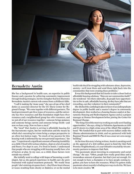 Bernadette Austin - Sacramento Magazine