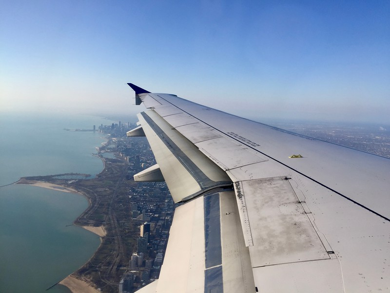 Flying into New York City