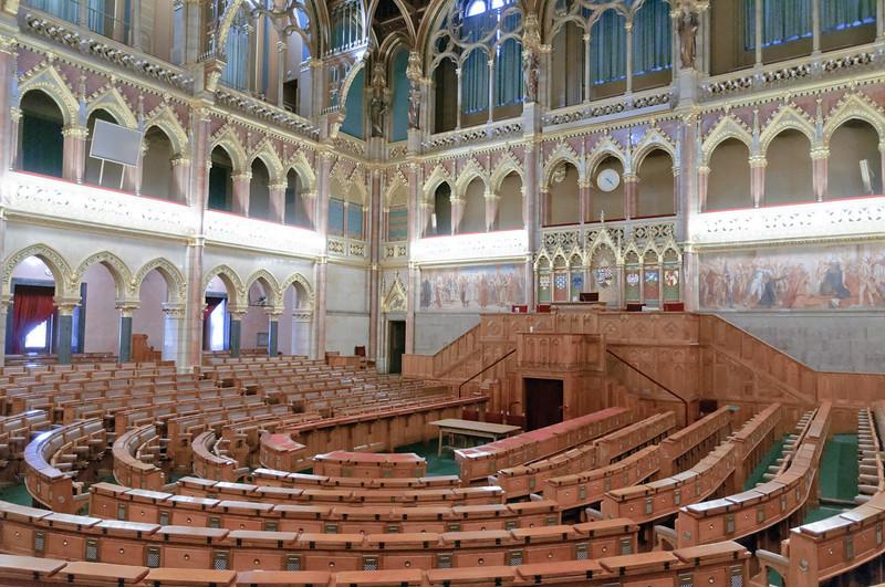 Das ehemalige Oberhaus des Parlaments. Hier finden auch heute noch Sitzungen statt.