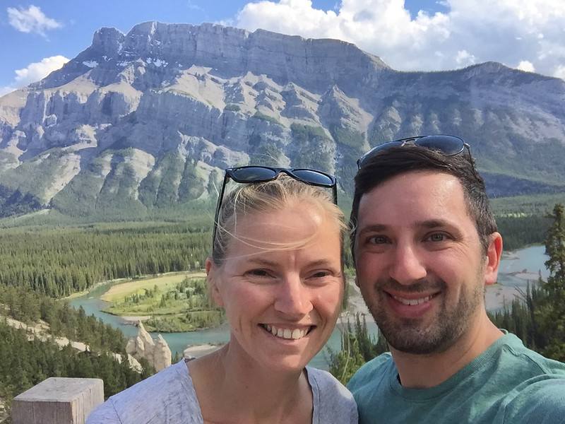 Sammi and I in front of Mt. Rundle