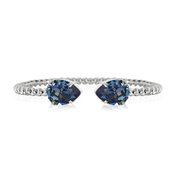Mini Drop Bracelet / Montana Rhodium