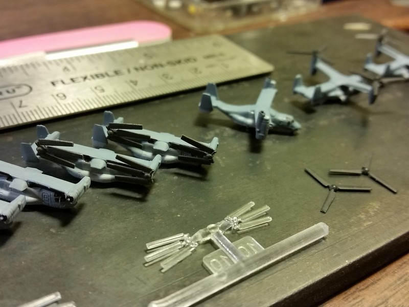 151021: MV-22 production line.  Trumpeter and Dragon MV-22s are very compatible.